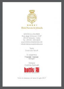 Mostra dadavenice hotel savoia & Jolanda